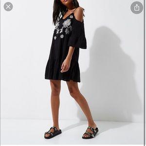 River Island Could Shoulder Embroidered Dress 10